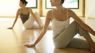 Yoga class,